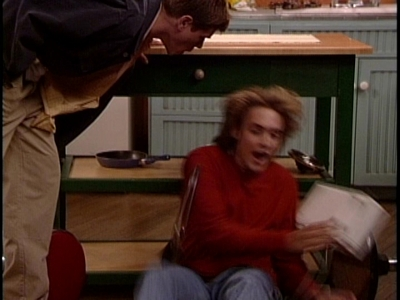 Matthew pretends to kiss Will Friedle and Will freaks out!! XD