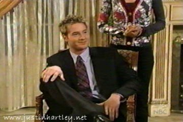 "Justin in a screencap from ""Passions"" (sorry for the quality)"