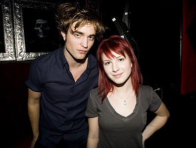 my handsome Robert with Paramore lead singer,Hayley Williams<3