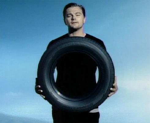 Leonardo DiCaprio,doing a commercial for a Japanese tire company:)