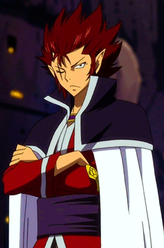 ular tedung, cobra from Fairy Tail :) . He has really good hearing also he has big elf-looking ears in a good way ^_^