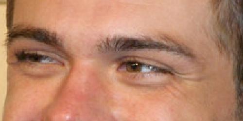 Matthew's beautiful brown eyes. :)