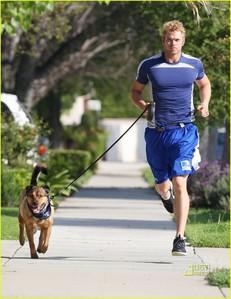 Kellan and his dog,Kola out for a run..so sweet:)