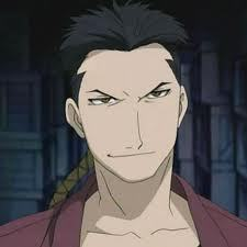 Zolf Kimbley from Fullmetal Alchemist I hated this man, really, Then....I loved him. He was cocky, and I hated how he thought he would (and could) get away with everything. He went witht he bad guys and was extremelly two-faced. After he practically got rid of Pride though I loved him. Even though he killed people without a thought and was downright crazy.
