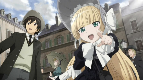 Gosick is a good period anime. Not completely historically accurate, what with it taking place in a tiny fictional European country and all, but its set against the greater backdrop of the inter-world-war period.