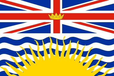 I live in Canada. I was born here and everything. This is my provinces, British Columbia, flag.