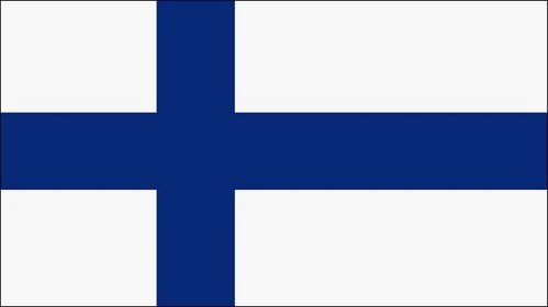 Finland's flag.