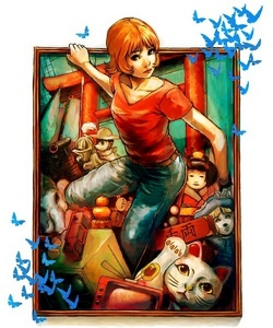 If you're feeling ব্রেভ and don't mind gross-out psychological horror, try Paprika (It's দ্বারা Satoshi Kon). xD It's... very disturbing, but mind boggling. Extremely mind boggling. XD;;