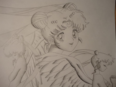 I can draw ইনুয়াসা the best but i did a sailor moon sketch yesterday what do আপনি think? :)