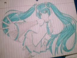 I can draw hastune miku :)