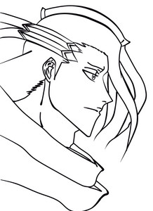kuchiki byakuya (I did it over in lineart)