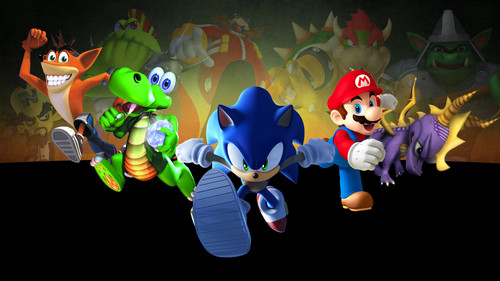 TONS!!! XD Mario and Sonic ofcourse! XD Link, Ratchet and Clank, Jak and Daxter, Serious Sam, лиса, фокс McCloud, Samus Aran, But my Избранное video game characters OF ALL TIME who had just introduced my to the world of video games for the first time in my life are: Crash Bandicoot, Spyro the Dragon and Croc! I've known these guys since I was 5 years old growing up with the PlayStation and 11 years later, they're STILL my heroes! XDD