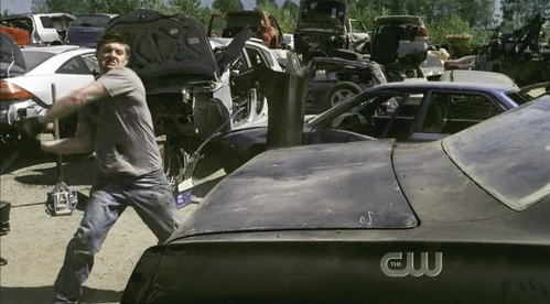 Jensen Ackles as Dean Winchester in Supernatural, in episode 'Everybody loves a clown'.