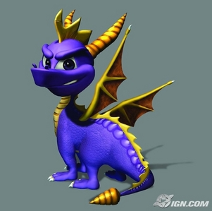 Spyro the Dragon I grew up with him and I have all of his video games, at the most