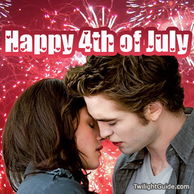 here is my Robert,with Kristen,as their characters Edward&Bella in New Moon.Kissing Robert would definitely make me see fireworks too,and not just on July 4th<3