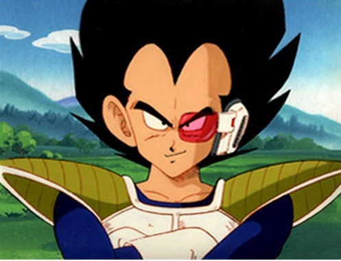 Okay then, here's Vegeta from Dragon Ball Z with his!