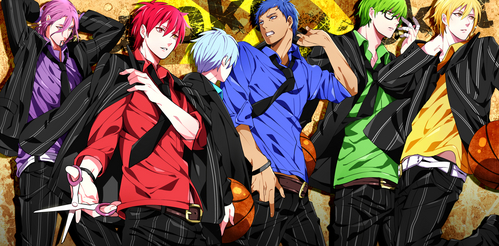 The Generation of Miracles from the Anime Kuroko no Basket <3