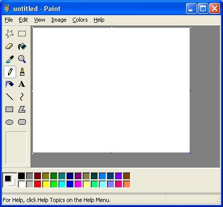 Modes in microsoft paint