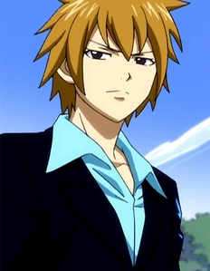 Hibiki Lates from Fairy Tail He's wearing a suit but te can't see it properly Gomen nasai (Sorry...)