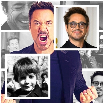 little Downey then, big Robbo now ^^