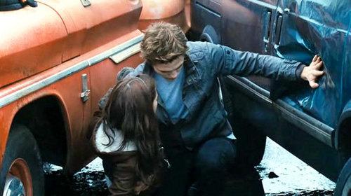 my baby,in a scene from Twilight pushing away a busje, van that almost hit Bella,played door Kristen Stewart<3