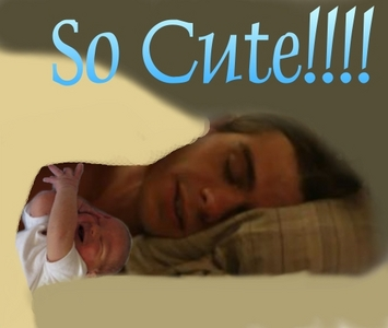 I actually made this. Matt as my dream husband with a baby, which I had many dreams of having a child with him. <333