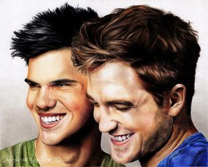 Here's a drawing of two actors
