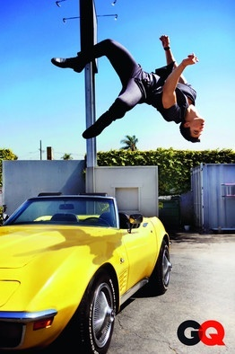 Taylor flipping over a car
