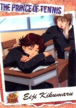 Eiji(the one who sleep) and Fuji from Prince of Tenis sit each other in the same class and they were best friends...