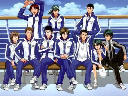 I recommend you to watch Prince of Tennis,it's full of sports,comedy and,school and slice of life...