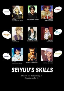 My 最喜爱的 character is Kikumaru Eiji from Prince of Tennis...His seiyuu is Takahashi Hiroki,who also voices Superbia Squalo from KHR! P.S. Sorry if the picture too small....