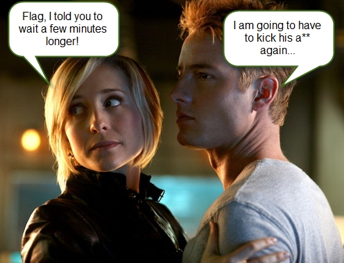 """Chloe, Oliver and a common frenemy (from """"Collateral"""") (not made door me)"""