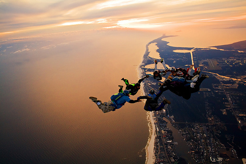 skydiving~ once? please if I had the chance i'll never stop haha
