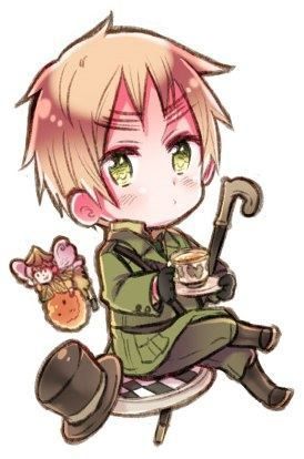 I've cosplayed has England from Hetalia I have a flying mint bunny and draw on the eyebrows ^^