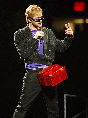 Justin Timberlake on SNL with his D*** in a box..LOL.