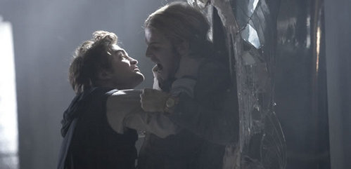 my baby fighting with Cam Gigandet,in a scene from Twilight.Go Edward!!!!!!<3