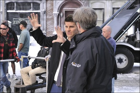 David on the set of Bones