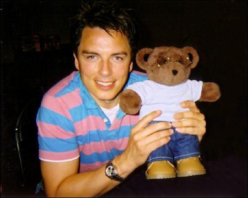 John Barrowman with his teddy ;)