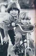 Little Matthew riding on a bike with Joey's help. So Cute!!! <3333