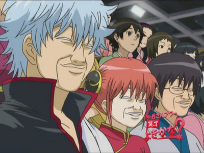 Rewatching my favourite animê Fairy Tail (so sad its gone, but I know It'll come back soon ^.^) Also gintama (Love it!) Kuroko no Basket *Kuroko <333* Image, Gintama... Left to right --- Silver perm: Gintoki, Chinese girl: Kagura, Glasses boy: Shinpachi :)