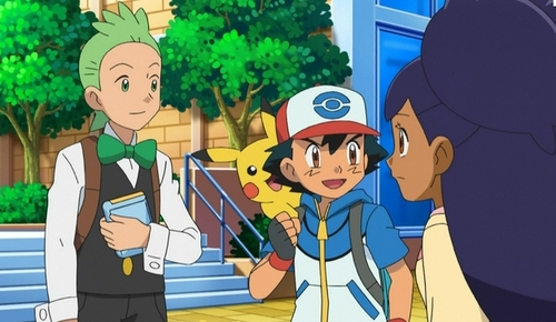 My Favorit Anime trio..that would be Satoshi-kun (Ash in the english dub),Dento-kun and Iris from Pokemon Best Wishes!~