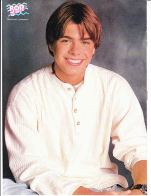 Teen Matt wearing a white shirt. :)