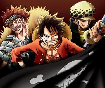 "Eustass ""Captain"" Kid, Monkey Ruffy and Trafalgar Law from One Piece...=)"