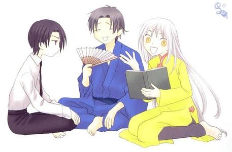Ayame, Hatori, and Shigure. The Mabudachi Trio!