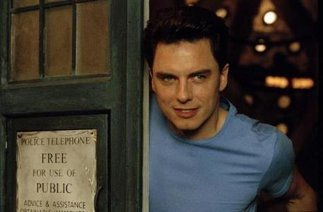 John Barrowman as Captain Jack Harkness in The Tardis :)