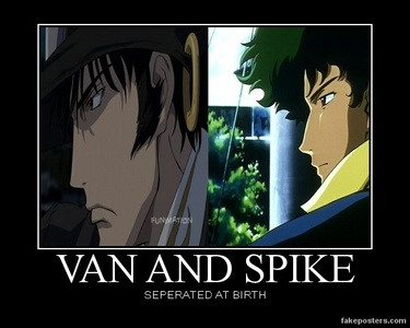 অগ্রদূত (GUNxSWORD) and Spike Spiegel (Cowboy Bebop).