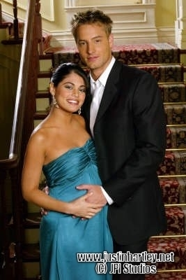 Passions photoshoot with a very pregnant Lindsay and a sweet Justin <333