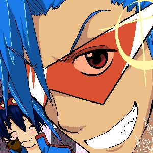 Kamina and Simon, Gurren Lagann. :3