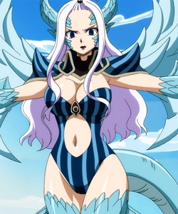 MIRAJANE STRAUSS FROM FAIRY TAIL!! SHE'S BEAUTIFUL BUT HAS MAGIC OF TURNING INTO A DEMON!! The picture is Mira's Demon Halphas :)