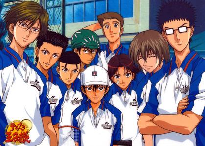 The Seigaku Regulars from Prince of Tennis...!!!!